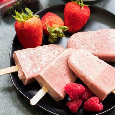Berry Nice Cream Collagen Popsicles (Paleo, Dairy-Free, GF)