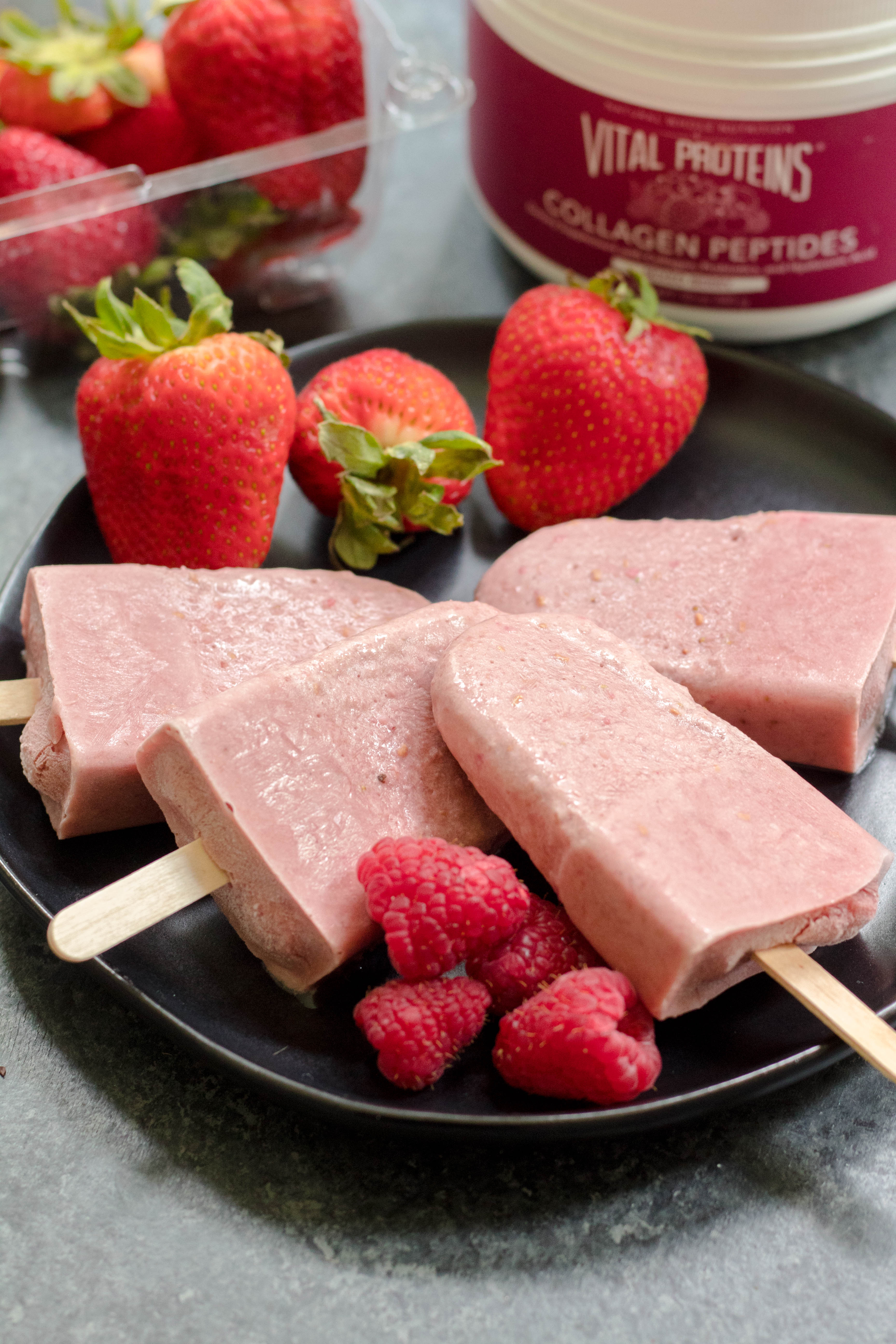 berry paleo popsicles