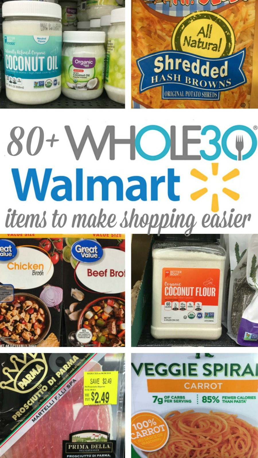 Walmart Whole30 Grocery List 80 Compliant Products Whole