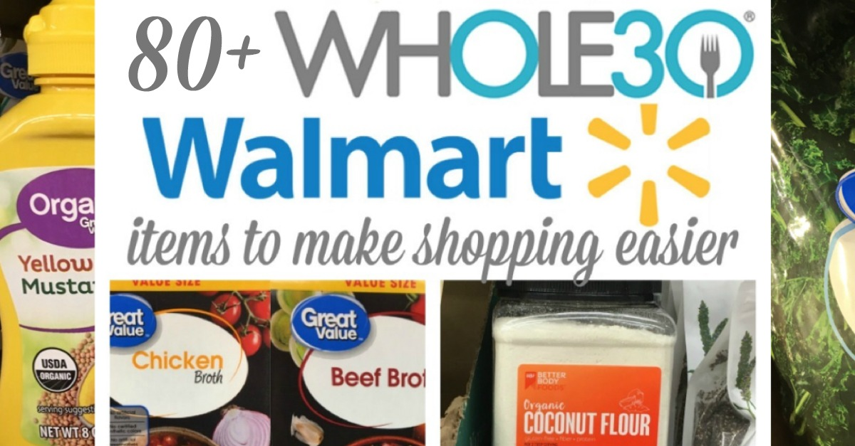 I love to show people that Whole30 can be done even if you don't have access to specialty stores. There's so many options for Walmart Whole30 or Paleo foods! Especially now, more and more compliant options can be found in the average grocery store. #whole30shoppinglist #whole30walmart #walmartwhole30 #paleowalmartlist