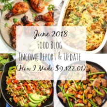 June Food Blog Income Report and Business Update