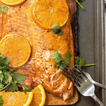 Whole30 Orange Glazed Cedar Plank Salmon (Paleo, Gluten Free)