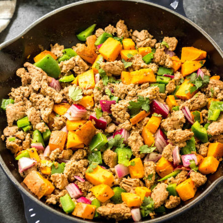 Whole30 Turkey Breakfast Skillet: Paleo Egg Free Breakfast