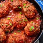 whole30 skillet meatballs