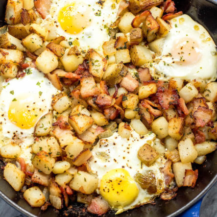 Country Potatoes, Bacon & Eggs Whole30 Breakfast Skillet (Paleo, GF)