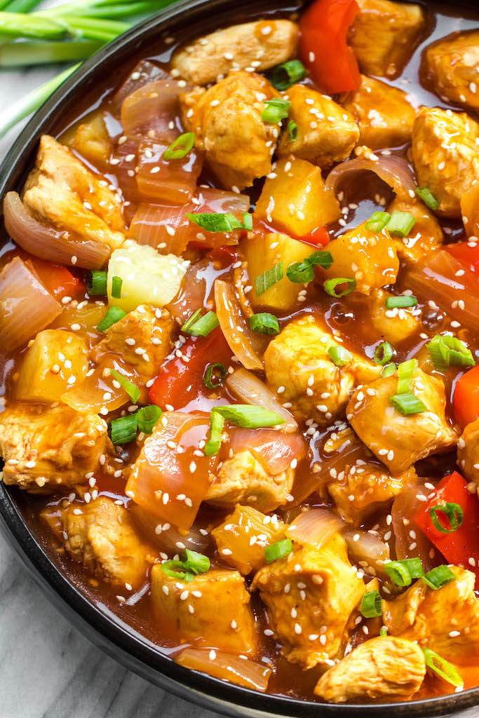 Whole30 Instant Pot Sweet Sour Chicken Paleo Gf Skillet Instructions Whole Kitchen Sink