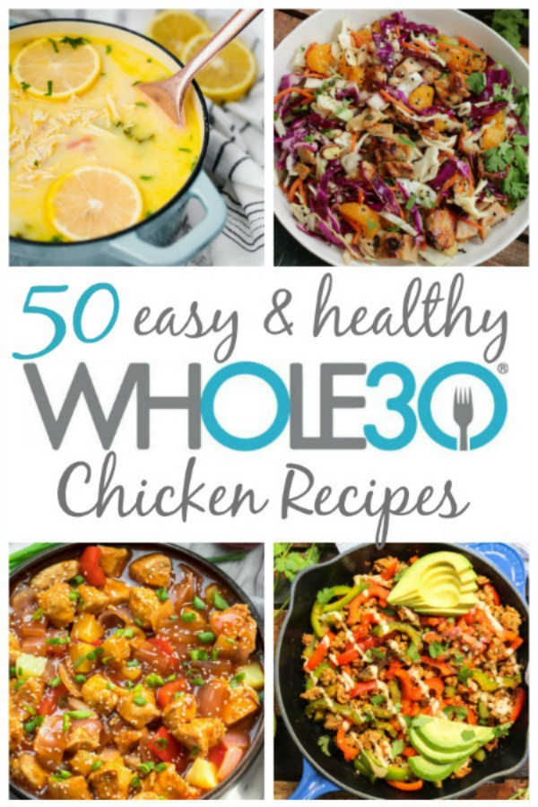 These 50 Whole30 chicken recipes aren't just Whole30. They fit the bill for any healthy diet, all Paleo lovers, and they're all dairy-free, gluten-free of course too. From one pan chicken recipes, slow cooker and instant pot chicken recipes, wings, salads and more, these 50 are some of my favorite on the web! There's sure to be a new family favorite in here that everyone will love. #whole30recipes #whole30 #whole30chicken #paleo #paleorecipes