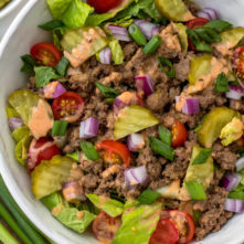 Chopped Big Mac Salad: Whole30, Paleo, Keto