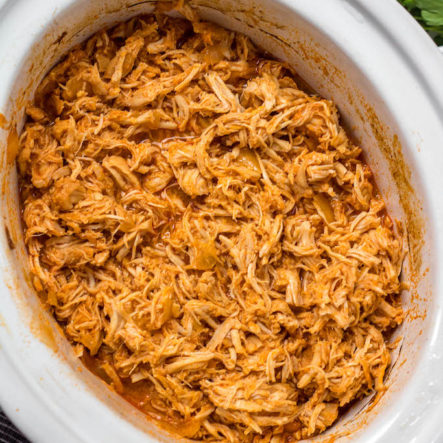 Slow Cooker Buffalo Chicken: Paleo, Whole30, Keto, GF