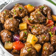 Slow Cooker Sweet and Sour Meatballs: Paleo, Whole30, Gluten-Free, Easy!