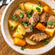 Instant Pot Beef Stew: Whole30, Paleo, GF & Slow Cooker Instructions