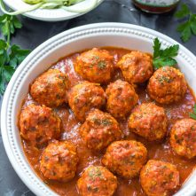 Instant Pot Chicken Meatballs and Marinara: Whole30, Paleo, 5 Minutes