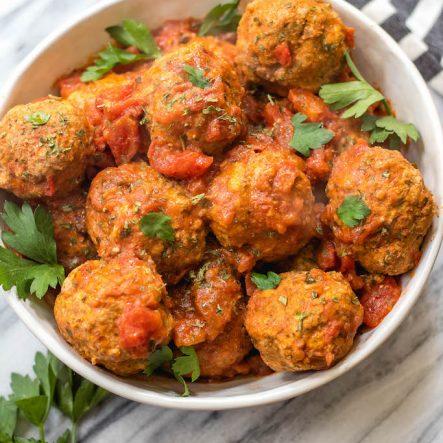 Instant Pot Beef Meatballs & Marinara: Paleo, Whole30, GF, 10 Minutes
