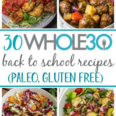 30 Whole30 Back to School Recipes (Paleo, Gluten Free, Dairy Free)