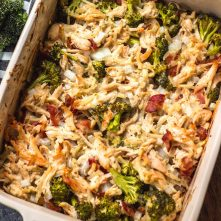 Chicken & Bacon Alfredo Casserole: Whole30, Paleo, Dairy-Free, GF