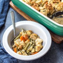 Chicken Pot Pie Casserole: Whole30, Paleo, Dairy Free, Gluten Free