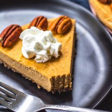 Paleo Pumpkin Cheesecake: Dairy Free, Gluten Free, No Bake
