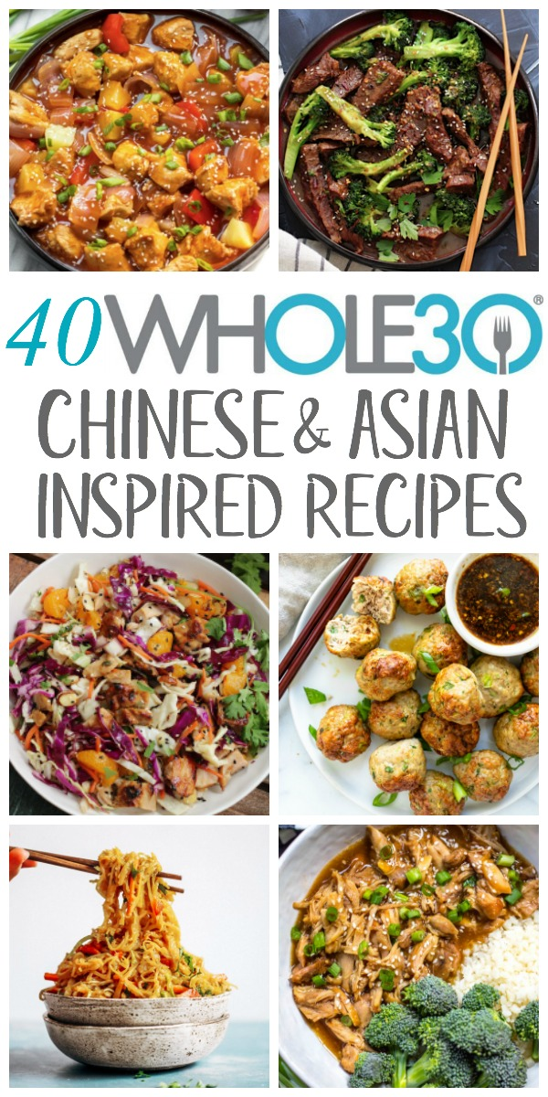 These Whole30 Chinese recipes include asian inspired takeout-fakeout recipes that are healthy, paleo and made at home and they're some of the best Whole30 asian recipes on the internet! They're all gluten free and sugar free, and many of them are low carb or could be made keto. They include instant pot recipes, slow cooker, skillet, and side dishes, making for easy weeknight dinners or delicious meal prep recipes. #whole30chineserecipes #whole30asianrecipes #paleochineserecipes #paleoasianrecipes