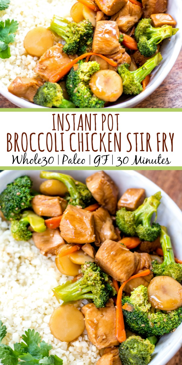 Instant Pot Broccoli Chicken Stir Fry Whole30 Paleo Low Carb Gf Whole Kitchen Sink