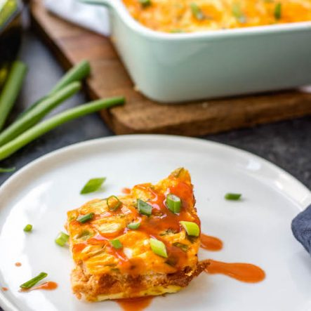 Buffalo Chicken Egg Bake: Whole30, Paleo, Keto, GF
