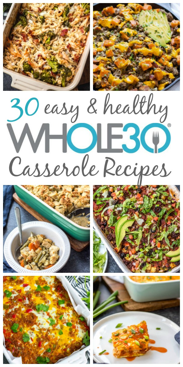 These are the 30 best Whole30 casserole recipes on the internet, and not only are they Whole30, but they're paleo, gluten-free and dairy-free casserole recipes too. However, they're so delicious that no one will even realize that they're so healthy! Casseroles are a true comfort food, but they're also super easy to make. Usually using one pan, they make weeknight dinner, meal prep, and clean up a breeze! #whole30casserole #whole30casseroles #paleocasserolerecipes #glutenfreecasseroles