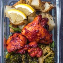 Whole30 BBQ Chicken & Vegetables Sheet Pan: Paleo, GF Meal Prep