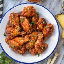 Slow Cooker Hawaiian BBQ Chicken Wings: Whole30, Paleo, GF