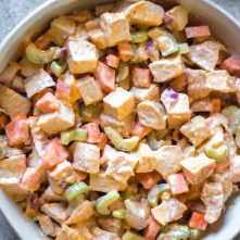 Buffalo Chicken Salad: Whole30, Paleo, Low Carb, Gluten-Free