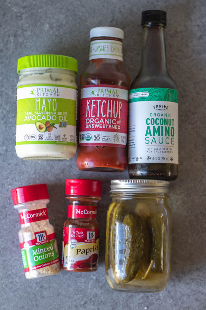 ingredients in Whole30 homemade special sauce