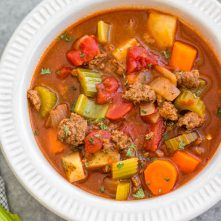 Ground Beef & Vegetable Soup: Whole30, Paleo, Gluten-Free