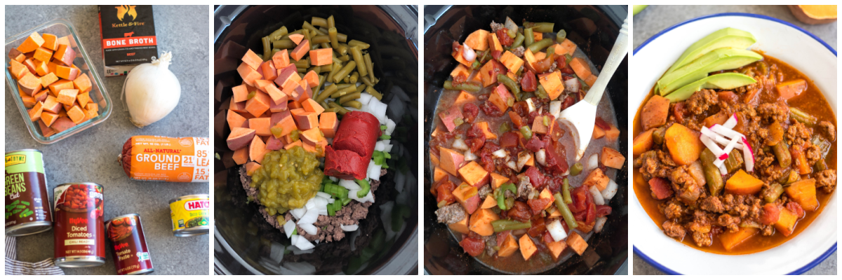 Whole30 Slow Cooker Sweet Potato Chili Recipe Cooking Process