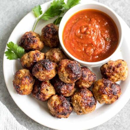 Air Fryer Pork Meatballs: Whole30, Paleo, Gluten-Free, Keto