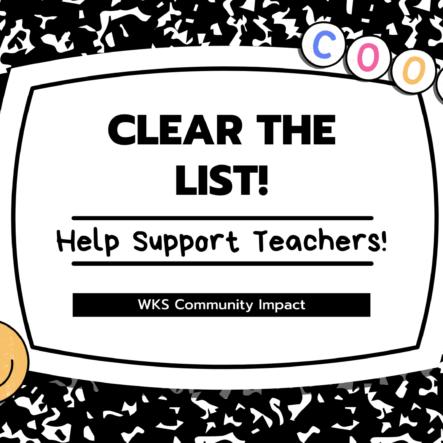 We Love Teachers! Let's Clear Their Lists!