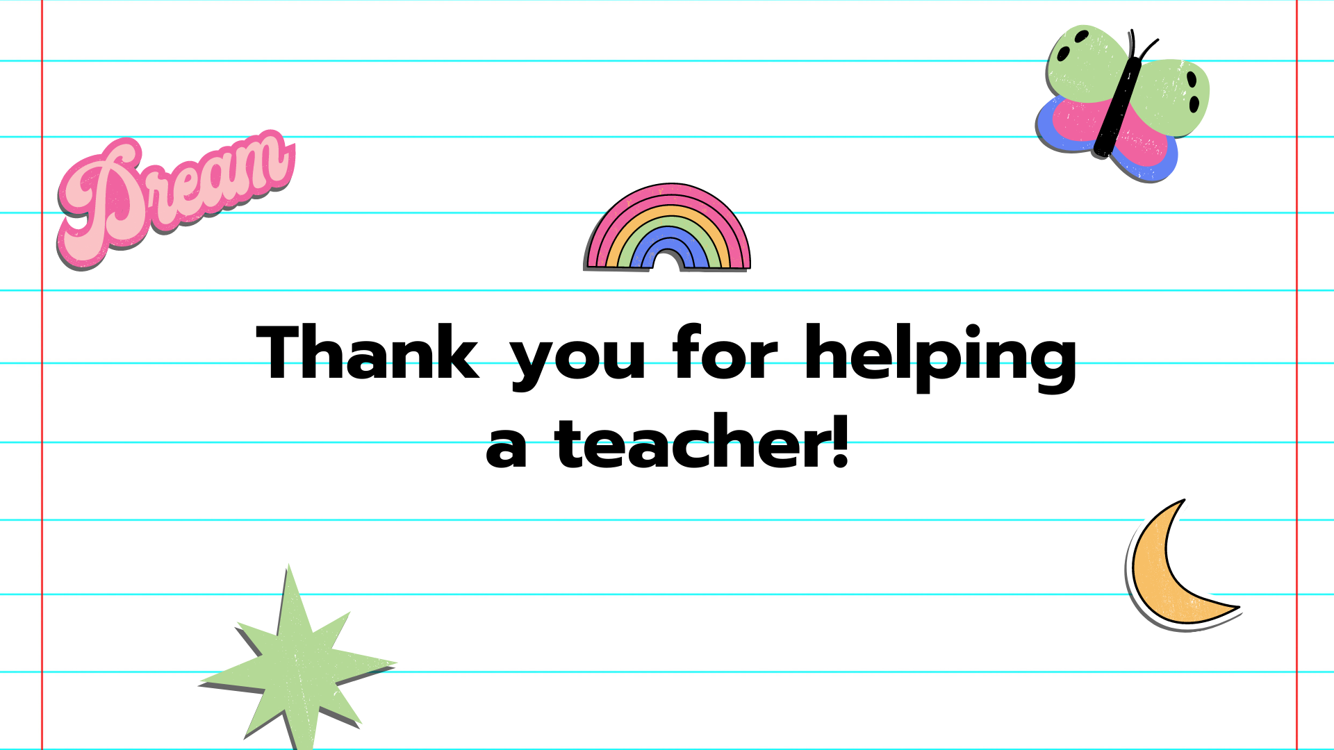 thank you for helping a teacher