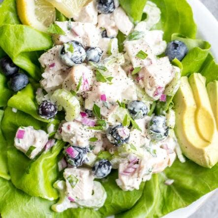 Blueberry Chicken Salad: Whole30, Paleo, Dairy-Free, Gluten-Free