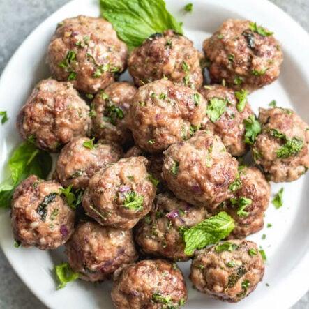 Easy Greek Meatballs: Whole30, Paleo, Keto, Gluten-Free