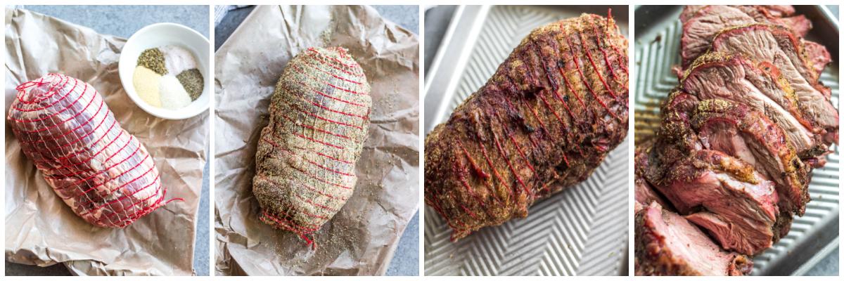 smoked lamb roast cooking process