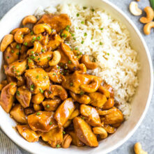 Slow Cooker Cashew Chicken: Paleo, Whole30, GF, Soy-Free