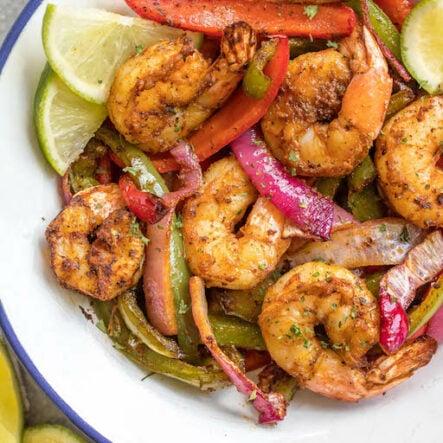 Air Fryer Shrimp Fajitas: Whole30, Paleo, Keto, Sugar-Free